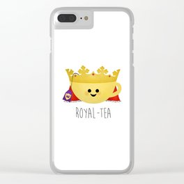 Royal-tea Clear iPhone Case