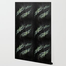 Eucalyptus leaves on chalkboard Wallpaper