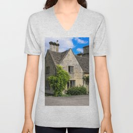 19th Century Grade II House on the Bathhurst Estate Unisex V-Neck
