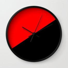 Antifa Flag Wall Clock