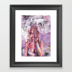 you, me and whatever Framed Art Print