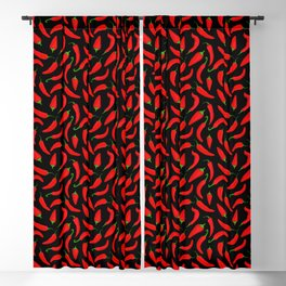 Red Chilli Peppers Blackout Curtain