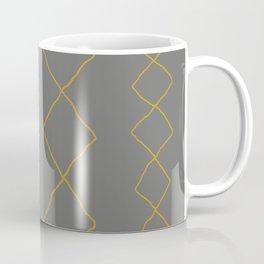 Moroccan Diamond Stripe in Grey Mustard Coffee Mug