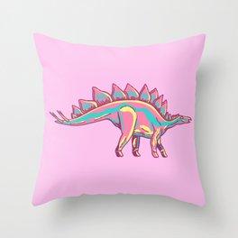 Stylised Stegosaurus Throw Pillow