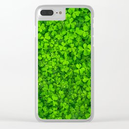 Clover leaves Clear iPhone Case