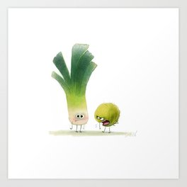 talking vegetables Art Print