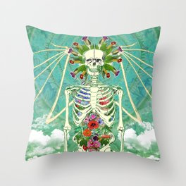 Angel Of The Entheogens Throw Pillow