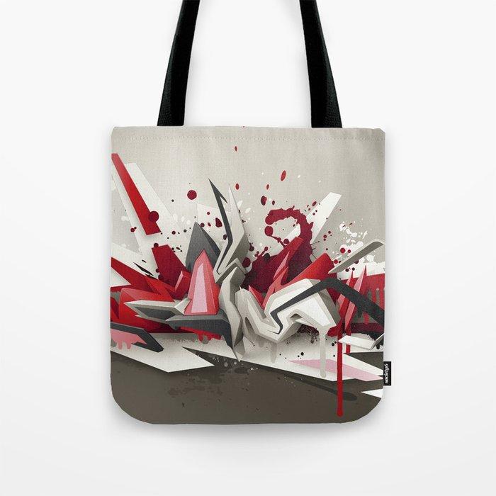 Red Metal Tote Bag
