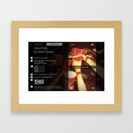 """Good Kids"" poster Framed Art Print"