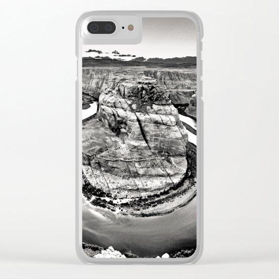 Horseshoe Bend Arizona Black and White Clear iPhone Case