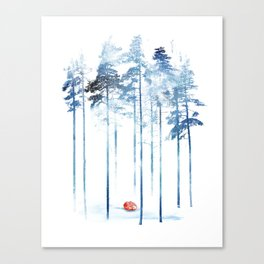 Sleeping in the woods Canvas Print