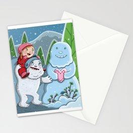 Valentine Yeti Stationery Cards