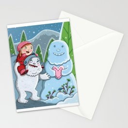 Valentine Yeti Stationery Cards