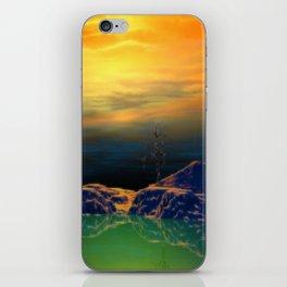 Sonnenuntergang über der Insel iPhone Skin