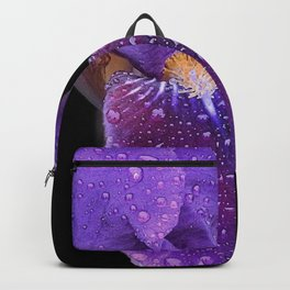Iris on Black Backpack
