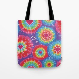 Love Tye Dye Tote Bag