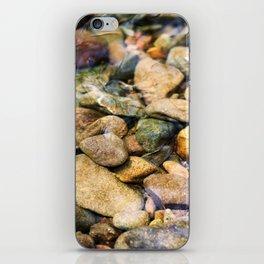 River Pebble Ripple iPhone Skin