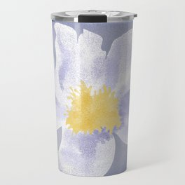 Peony on Blue Travel Mug
