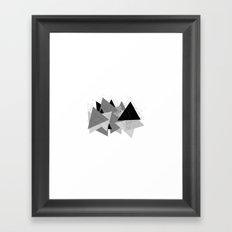 Triangle Grey Framed Art Print