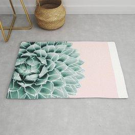 Succulent splendour - blush Rug