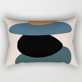 teal sunrise 3 Rectangular Pillow