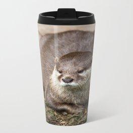 Sunning Otter Metal Travel Mug