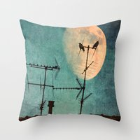guardians Throw Pillows featuring THE GUARDIANS by MadiS