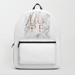 Marble rose gold hope Backpack