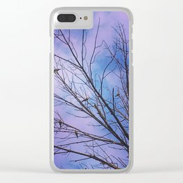 Dead Tree, Many Birds Clear iPhone Case