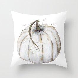 White Pumpkin Throw Pillow