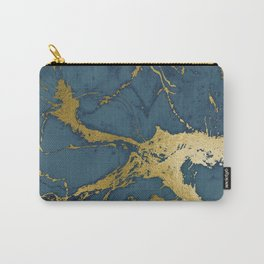Blue Azul Marble Carry-All Pouch