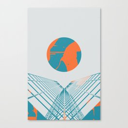 Cybersunset Canvas Print