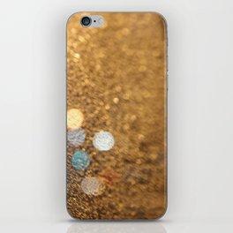 Blue Bokeh  iPhone Skin