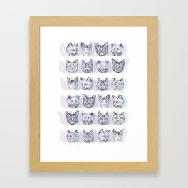 Cats! Cats! Cats! Framed Art Print