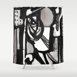 Sideways Shower Curtain