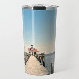 Outer Banks, Roanoke Island Marshes Lighthouse, Manteo, NC OBX Travel Mug