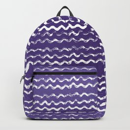 Abstract violet white watercolor geometrical chevron zigzag Backpack