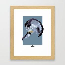Batzarro Polygon Mesh Framed Art Print