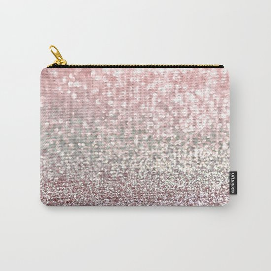 Girly Pink Snowfall Carry-All Pouch