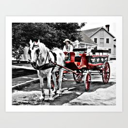 Mystic Carriage Ride Photography Art Print
