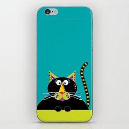 Cross-eyed kitty cat iPhone Skin