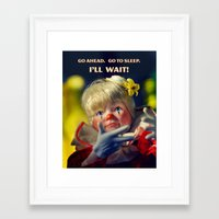 snoopy Framed Art Prints featuring Snoopy Clown by Oh Margaret