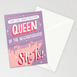 Queen Of The Neighbourhood Stationery Cards