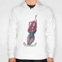 poison ivy Hoodies featuring Poison ivy by Sara Meseguer