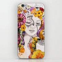 flora iPhone & iPod Skins featuring Flora by Jenndalyn