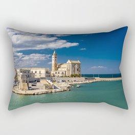 The beautiful Romanesque Cathedral Basilica of San Nicola Pellegrino, in Trani Rectangular Pillow