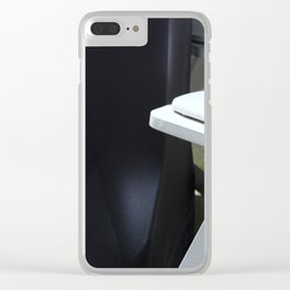 Four White Wooden Chairs... Clear iPhone Case