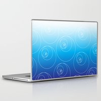 fibonacci Laptop & iPad Skins featuring Blue Fibonacci Circles by Alexandra Love + Beautiful Chorus