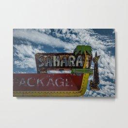 Vintage Sahara Lounge Neon Sign Route 66 Santa Rosa New Mexico Metal Print