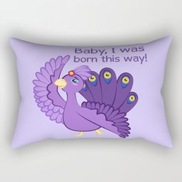 Commisions   Fancy peacock Rectangular Pillow